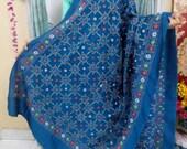 Khadi Silk Duppatas with Intrinsic HandStitch Kantha Stitching threadwork. - Online Shopping for Dupattas by rangamaati handicrafts