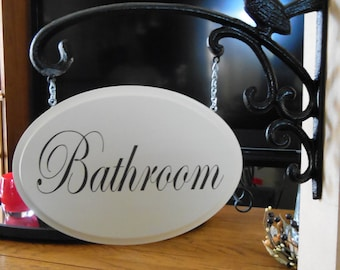 Hanging Bathroom Sign