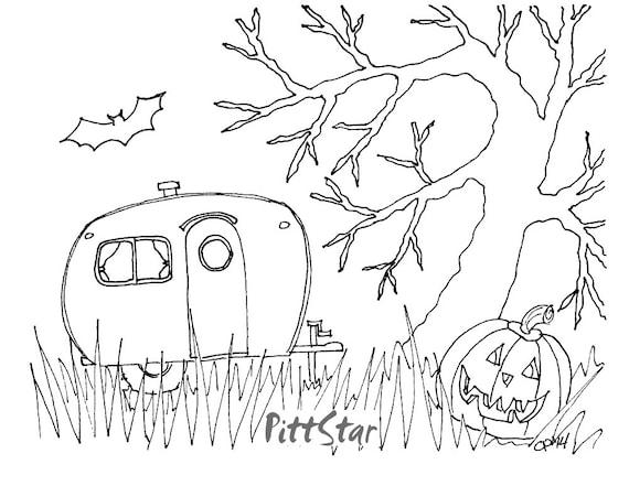 Instant Download Halloween Retro Travel Trailer In By PittStar