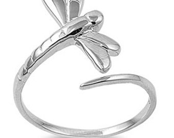 Dragonfly Ring 19MM Sterling Silver 925