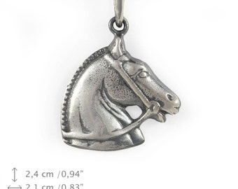 Andaluian Horse, silver hallmark 925, horse silver necklace, limited edition