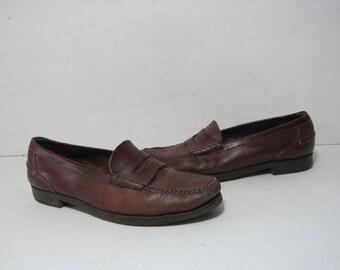COLE HAAN Dress Loafers Shoes Size: 11 M Men's Leather Vintage Retro