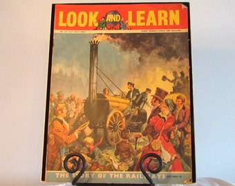 Look and Learn Children's Magazine, The Story of the Railways, Books Movies and Music