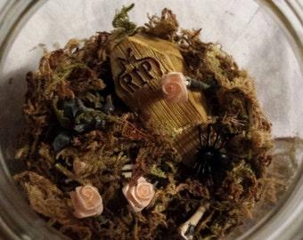 Miniature Cemetery Mason Jar