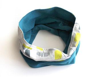 Circular Scarf Blue 02