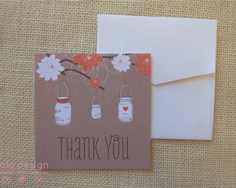 Hanging Jars Thank You Card 10 Pack