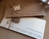 Vintage/Rustic wedding invitation with RSVP and information sheet - Elizabeth Range