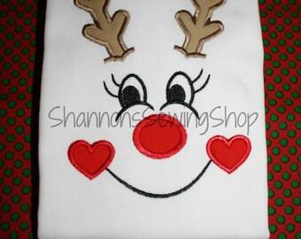 Girl Reindeer Shirt