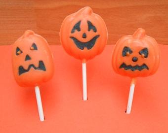 Halloween Pumpkin Lollipops ~ 1 Doz, 2 Doz or 3 Doz options available