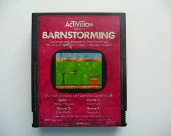 Vintage Barnstorming Game by Activision For Atari 2600