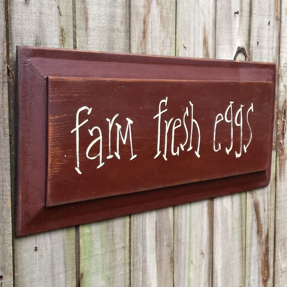 Primitive Wooden Kitchen Signs: Items Similar To Farm Fresh Eggs Primitive Door Panel