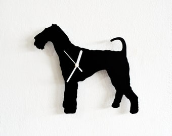 Airedale Terrier Dog- Wall Clock