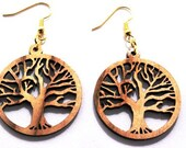Wood Earring,Tree of Life, Maple Hardwood, Earth Friendly, Real Wood Jewelry, Tree Lover? Great Gift,Environmentally Conscious.