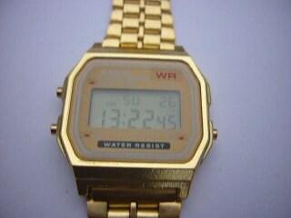 casio retro 1980s a159w gold unisex vintage digital
