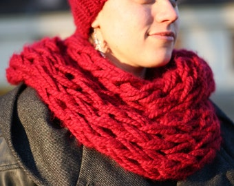 MADE TO ORDER - Winter Arm Knit Cowl, Chunky Arm Knit Cowl, Infinity Scarf, Many Colours Available