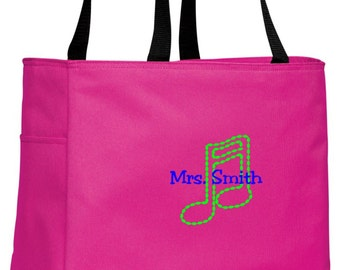Personalized Music Tropical Pink Essential Tote with FREE Personalization & FREE SHIPPING    B0750