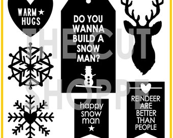 The Winter Weather cut file includes 7 Winter themed icons, that can be used on your scrapbooking and papercrafting projects.