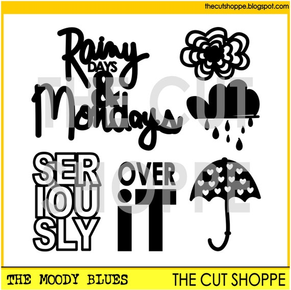 The Moody Blues cut file includes 6 icons, that can be used on your scrapbooking and papercrafting projects.