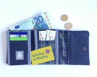 Dark denim wallet