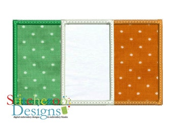 Irish Flag applique Design -In Hoop sizes 3x3, 4x4, 5 x 7, 7x7, 9x9- Instant Download - for Embroidery Machines