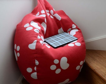 Stylish Red paw bean bag chair beanbag cover for kids children adult Furniture optional liner