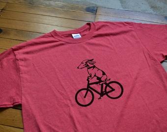 Customizable Dog Riding a Bicycle T-Shirt