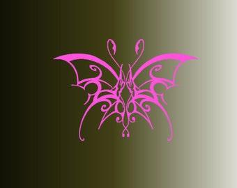Butterfly custom car decal