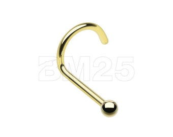 Golden Ball Basic Nose Screw Ring