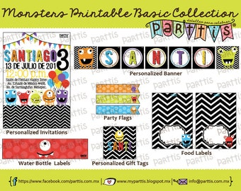 Monster Party Printable Collection BASIC