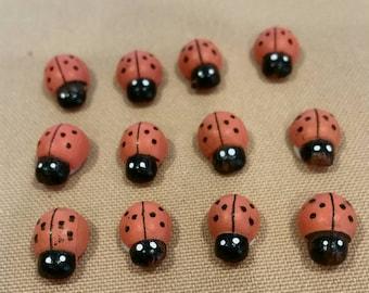 ladybugs,orange ladybugs,small ladybugs,small orange ladybugs,ladybug decoration,wreath decoration,ladybug baby shower,mini ladybugs,ladybug