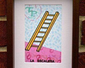 La Escalera- Mexican Loterîa Print