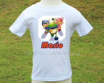 Team Umizoomi's Printed Tshirt - Milli, Geo and Bot Personalized Shirt - Cartoons Tshirt Printed