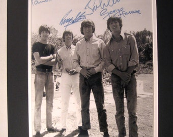 Early Beatles Autograph reprints 11x14 double matted 8x10 photo print John Lennon Ringo Paul McCartney George Harrison choose mat colors