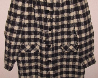 Vintage Pendleton Black and White Women's Coat