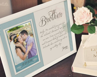 Brother Wedding Gift - Best Friend Thank You gift Wedding, Gift for ...