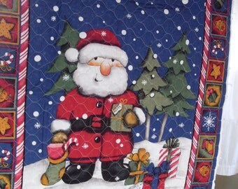 Quilted Fabric Santa Panel