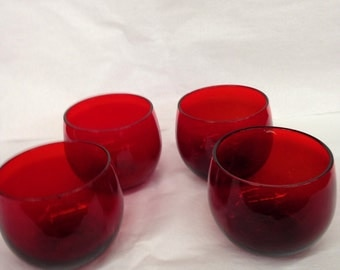 Pigeon Blood (Ruby Red) Jefferson Cups-Set of 4