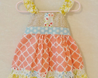 Calypso's Flutter Sleeve Dress, newborn to womens sizes available!
