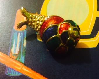 1980s Rainbow Enamel Snail Brooch