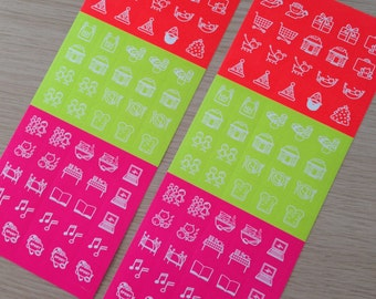 2 sheets of cute  planner stickers (ST01) DEADSTOCK
