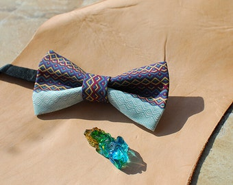 Pattern Bowtie - Modern Boys Bowtie, Toddler Bowtie Toddler Bow tie,Pre Tied and Adjustable