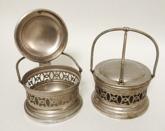 Antique Table Bowls in Silvered Copper - 19th Century