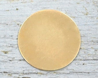 Five 1 1/4 inch Deburred 22 G NuGold Discs