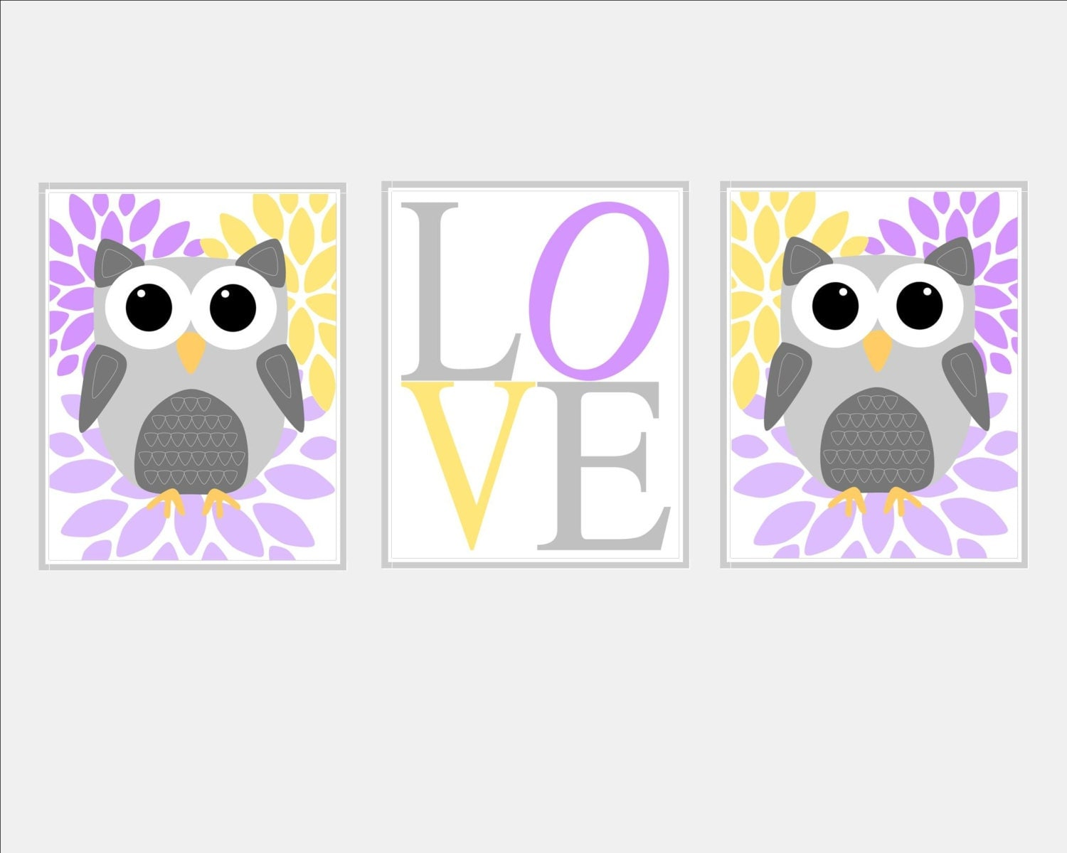 Baby girl nursery art owl nursery decor baby girl nursery - Girl owl decor ...