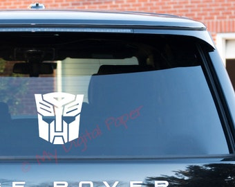 Autobot Vinyl Decal Sticker, Transformers Decal, Bumblebee Sticker, Optimus Prime, Decepticon, Megatron, Starscream Transformers