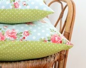 Pillows, Decorative Pillows, cushion cover, Floral and polka dot Pillows,  Decorative Throw Pillows, Pillow Covers, Cushions, Wedding Gift