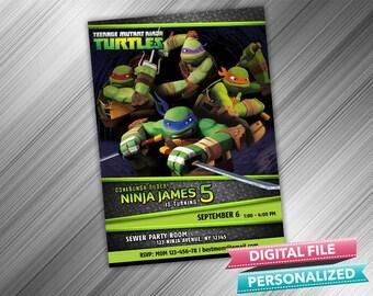 Ninja Turtles Invitation - Turtle Invitation - Teenage Mutant Ninja Turtles Invitation