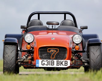 Poster of Caterham / Lotus Super Seven Front Orange HD Print