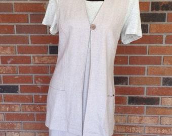 Vintage Positive Attitudes dress with removable vest