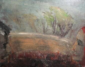 Bulgarian art portrait landscape vintage oil painting
